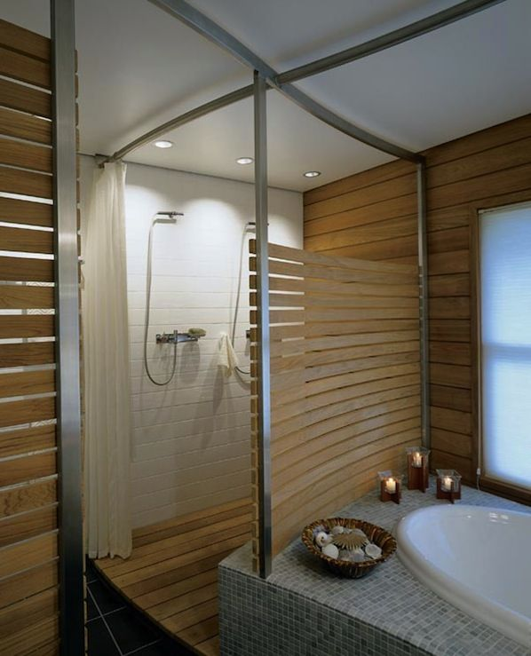 Contemporary Neutral Bathroom With Dark Wood Accents: Tips For Zen Inspired Interior Decor