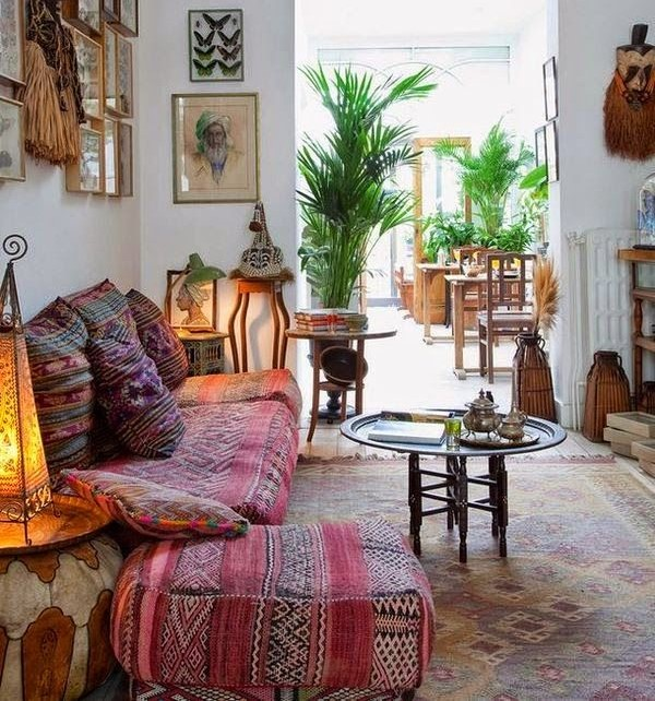 bohemian living room - Styles Of Home Decor