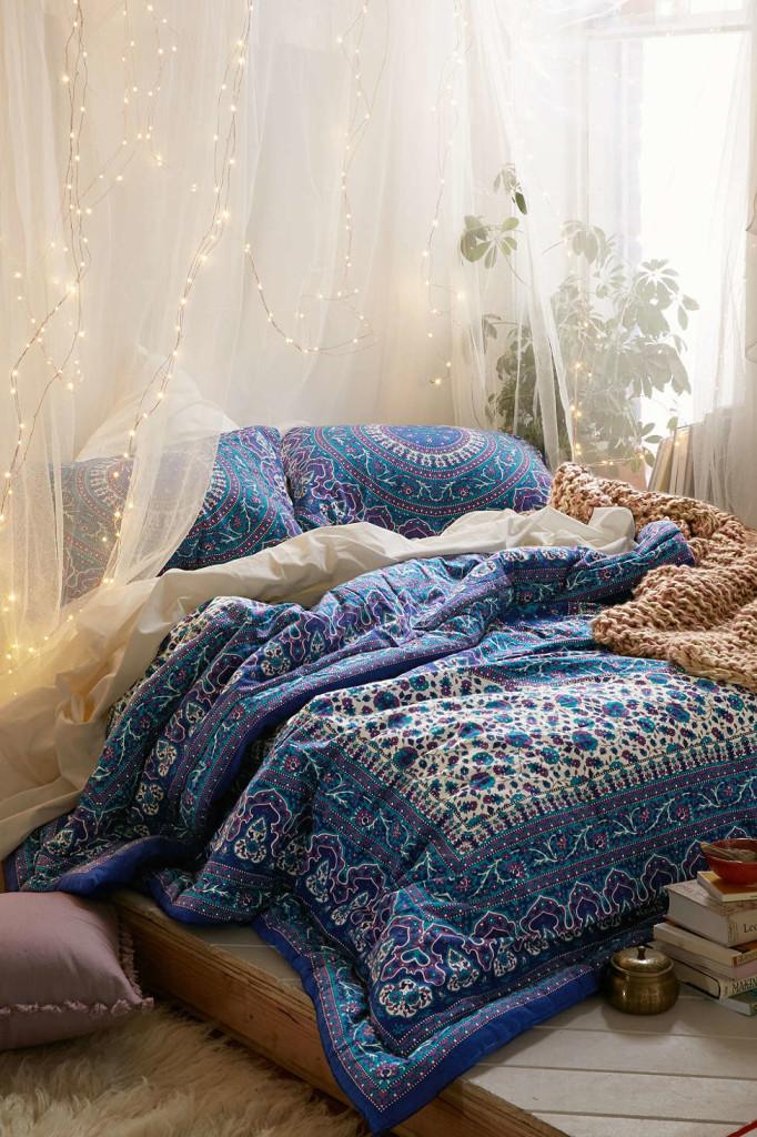 غرفة نوم بوهيمية