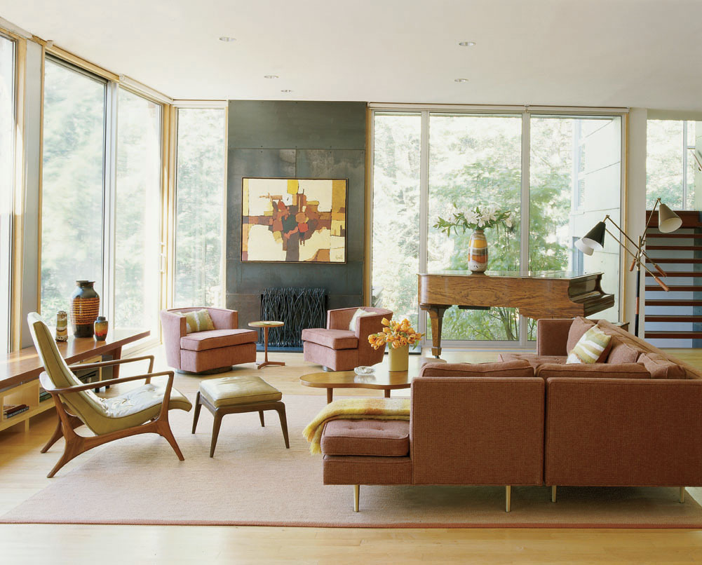 mid century modern interior design - Midcentury Living Room Ideas
