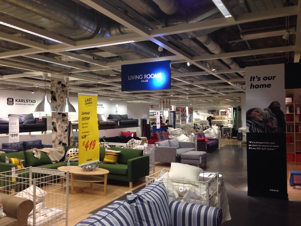 IKEA Showroom  IKEA Sofa. Furniture Stores in NYC  12 Best Shops for Modern Designs