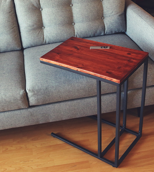 Mid Century Modern Bracket Side Table