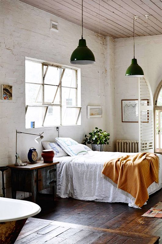 Beau Industrial Chic Bedroom
