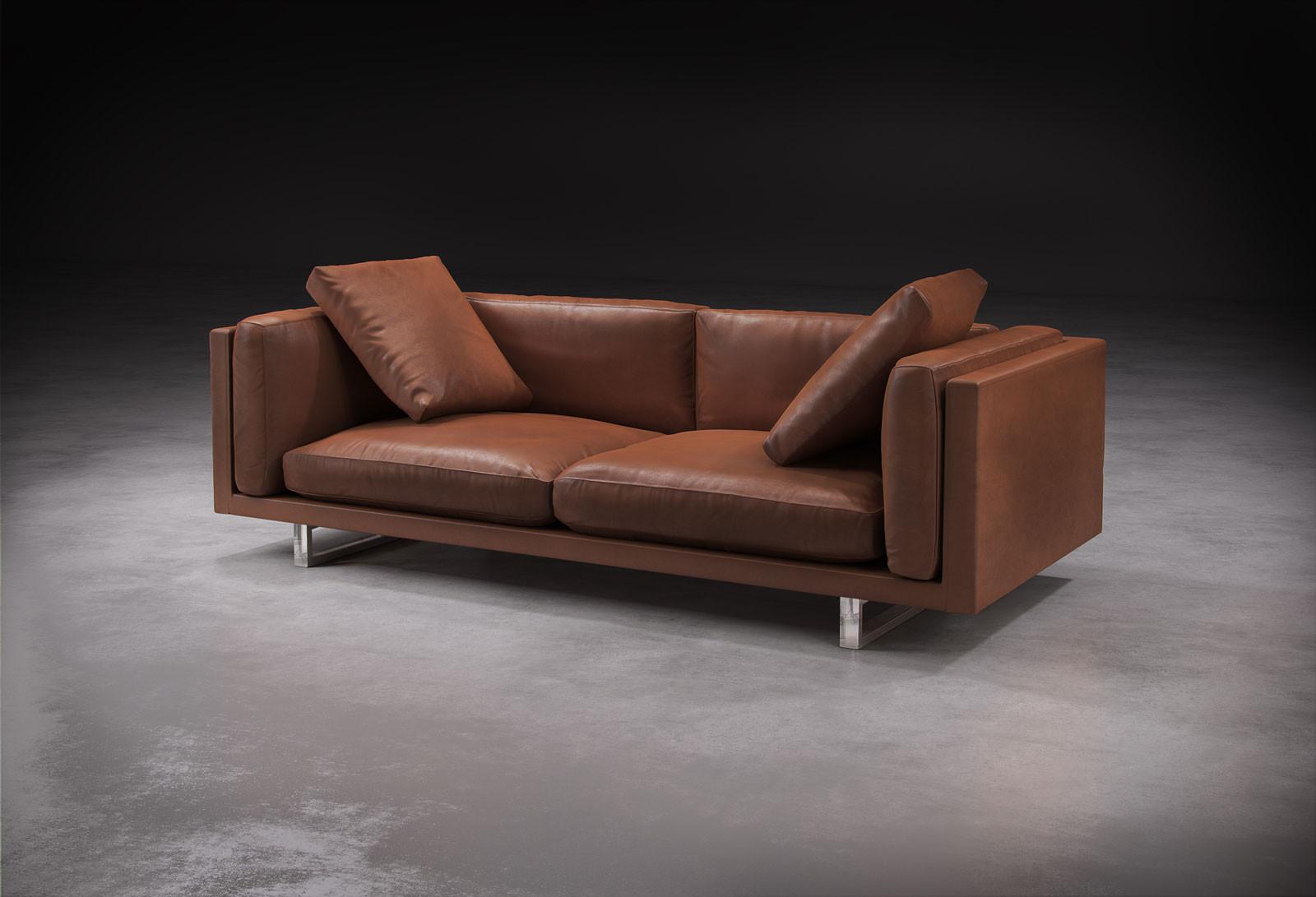 Industrial furniture sofa - Fulcrum Leather Sofa