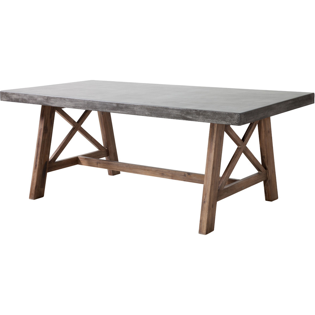 collections dining tables products force dining table cement natural