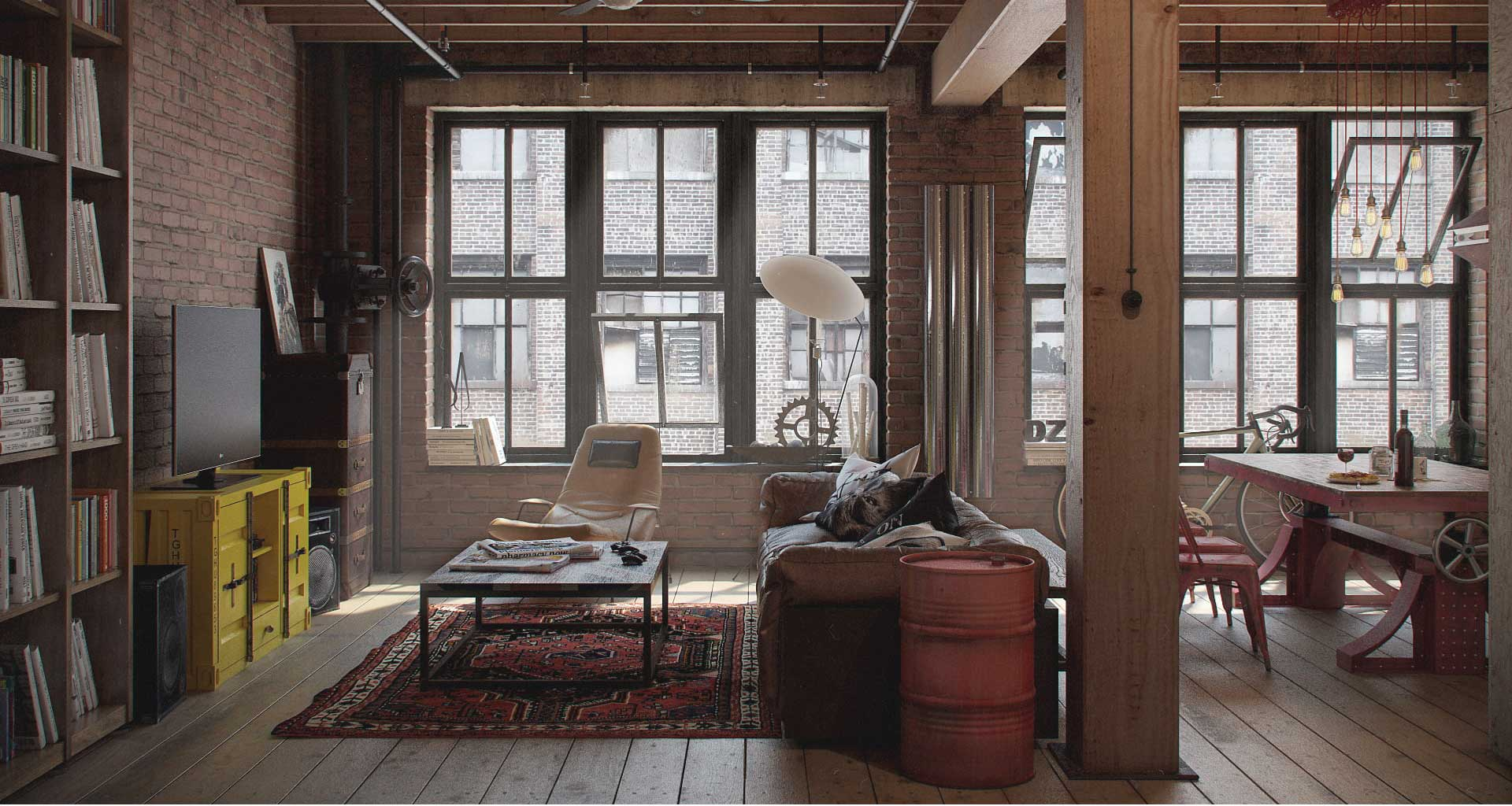 Industrial Decor Ideas & Design Guide - Lazy Loft by FROY
