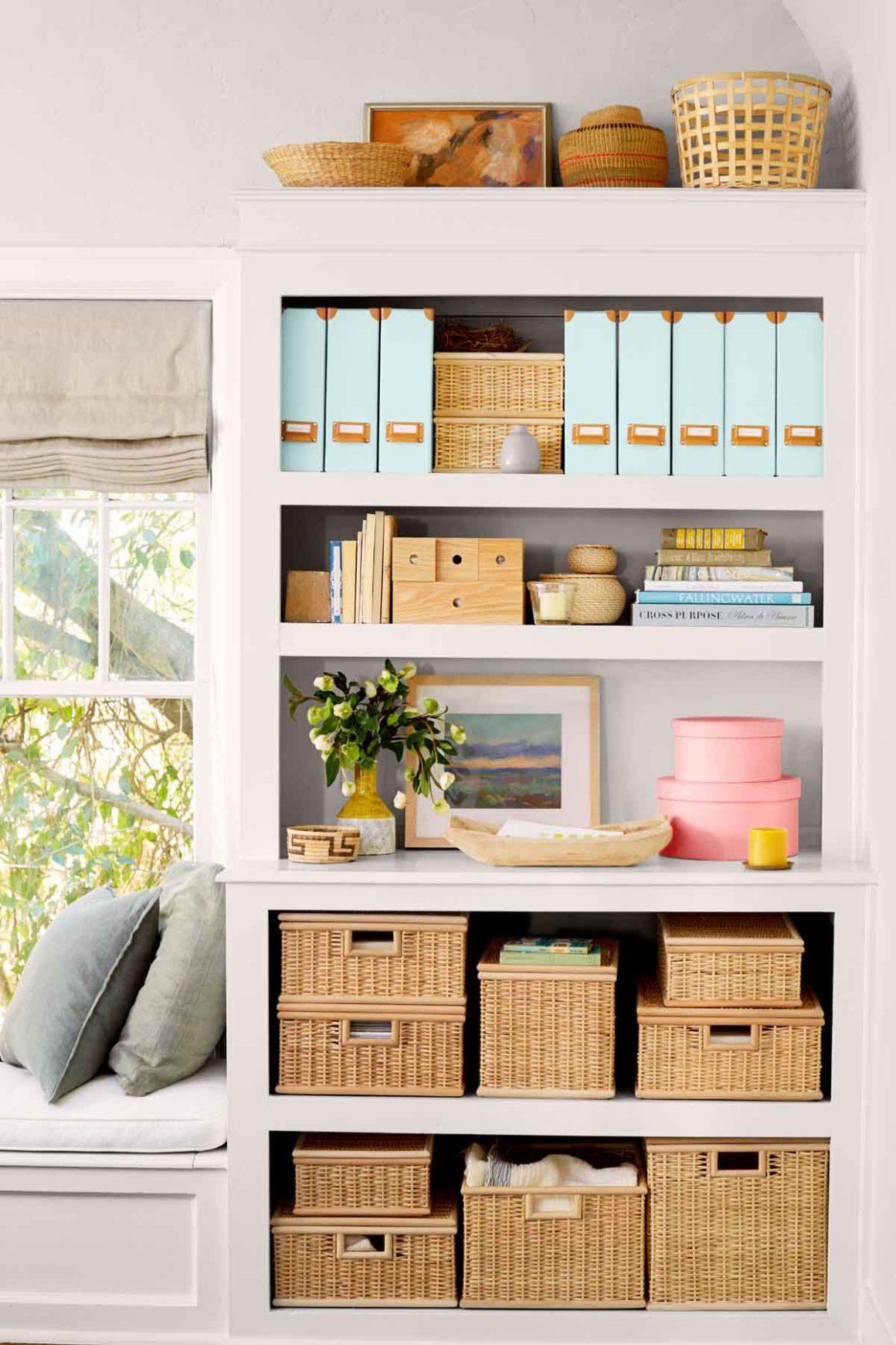 small apartment decorating ideas - organizing system