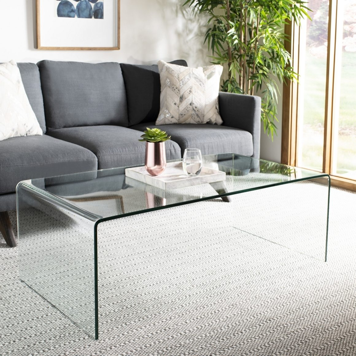 Transparent Coffee Table Glass Acrylic