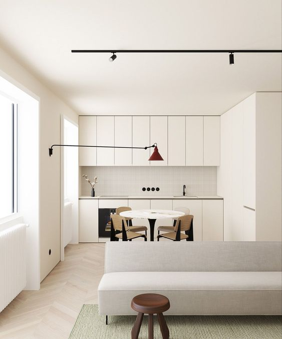 small apartment decorating ideas - bulky furniture